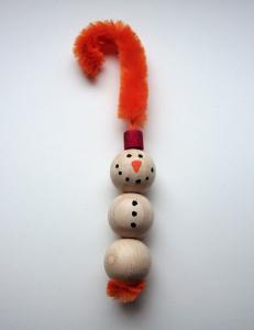 Sneženi mož - okrasek - končni izdelek