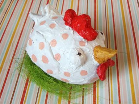 Velikonočna kokoška - www.brezideje.si - ustvarjalnice
