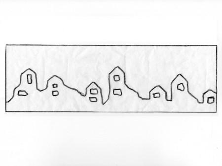 Okrasni lonček za barvice - obzidje