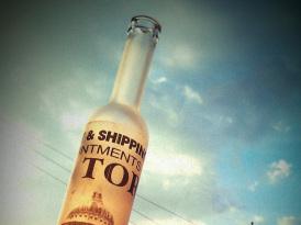 Steklenica s potiskom