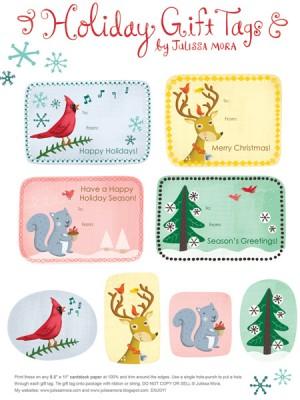 kartice darilne - za označevanje imen