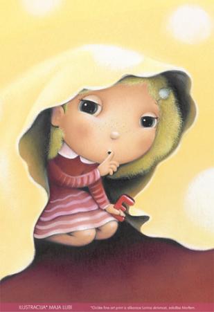 Maja Lubi - ilustracija - Larina skrivnost